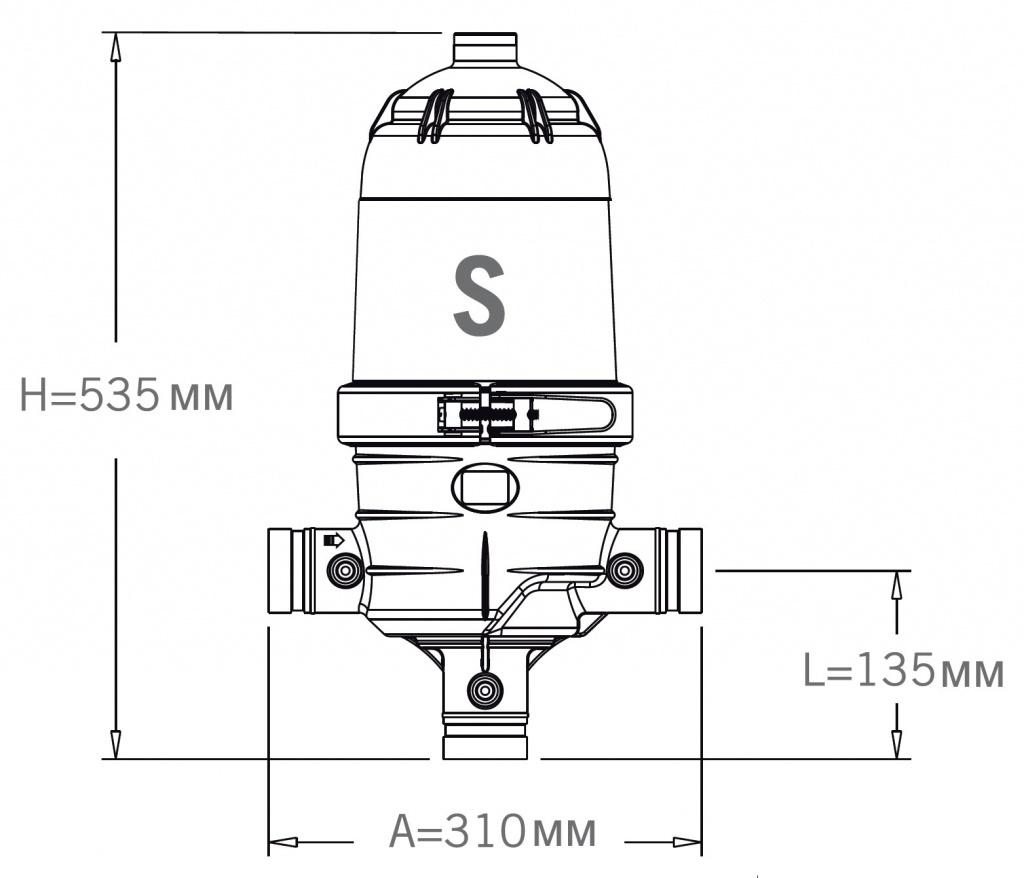 Фильтр дисковый Jimten DFP-2 Standard: размеры